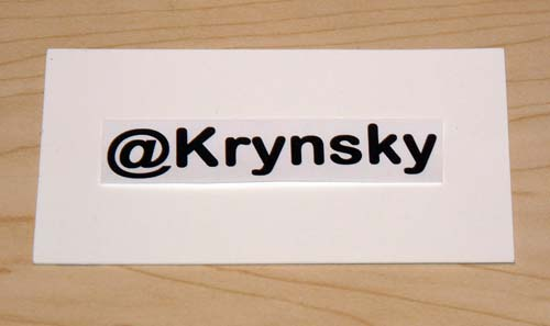 Idea for a New Vanity Business Card 1