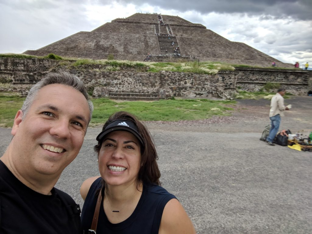 Esther and I at Teotihuacan